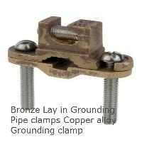 Bronze Grounding Clamps lay in
